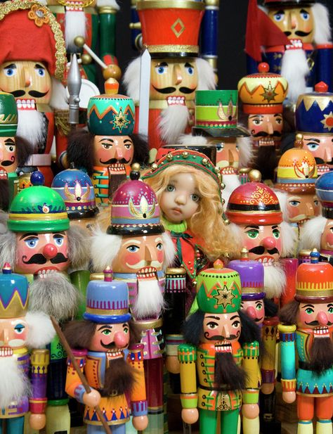 Christmas Elf and Nutcrackers, I so love my collection of nutcrackers that I received for Christmas