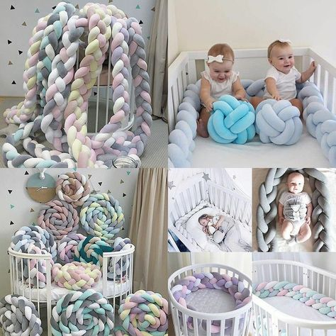 Crib Bumper Kids Bed Baby Cot Protector Baby Room Decor 1M/2M/3MLength Polyester | eBay