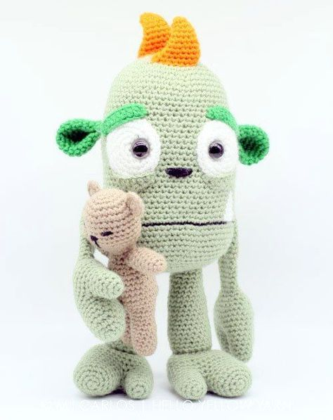 Free Crochet Pattern for Melvin the Monster ⋆ Crochet Kingdom | 597x474