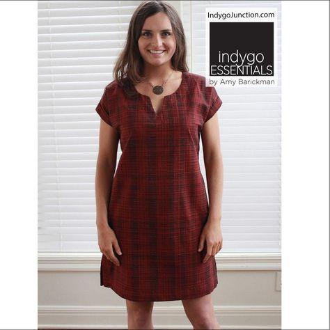 e493cfba34 Indygo Essentials - Shift Dress Pattern  womensclothingpatterns   modernsewingpatterns  modernwomensewing  sewingpatterns  womensclothing
