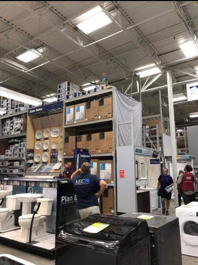 Taking kids to places can often be a challenge, but spare a thought for whoever brought this child to Lowe's. #children #shelves #climbing #wtf