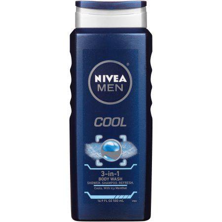 Nivea Men Cool 3 In 1 Body Wash 16 9 Fl Oz Body Wash Best Body Wash Face Wash