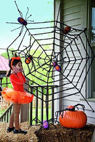 Evergreen Flag Giant Spider Web And Giant Spiders Halloween Decoration Spooky Outdoor Decor For Halloween Haunted House Decorations Wall S Furniture Decor Halloween Spider Decorations Haunted House Decorations Halloween Spider