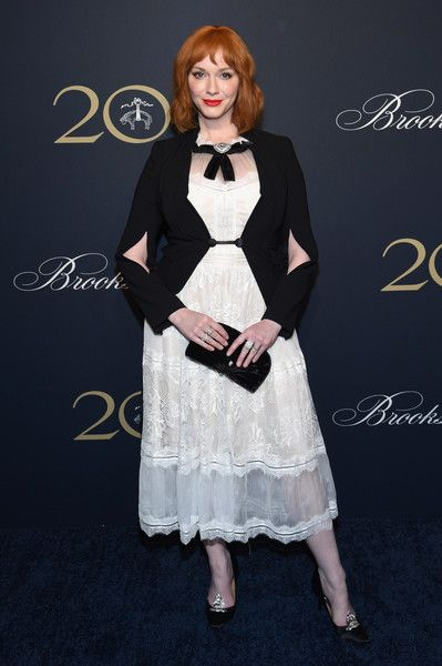 Christina Hendricks attends the Brooks Brothers Bicentennial Celebration.