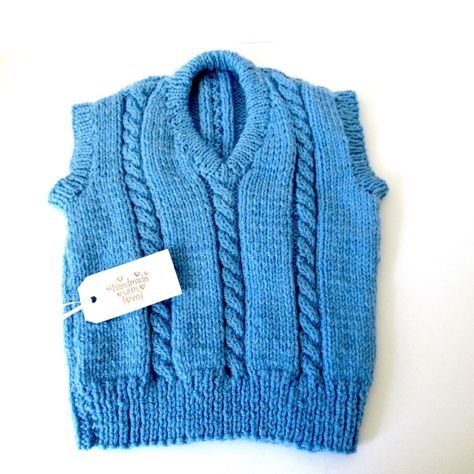 6263b3040 Hand knit childs vest