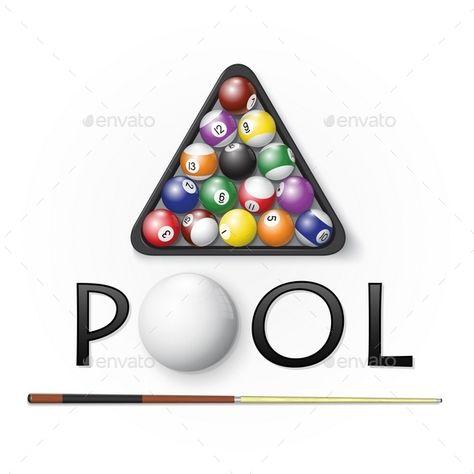 Pool Billiards Background Billiards Logo Design Negative Space Snooker