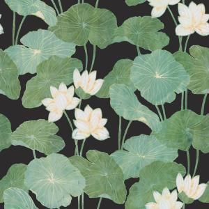 Roommates 28 29 Sq Ft Black Lily Pads Peel And Stick Wallpaper Rmk11245rl The Home Depot Peel And Stick Wallpaper Lily Pads Wallpaper Roll