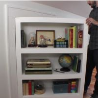 How to Make a Bookcase Thats Also a Secret Door Attic Doors and