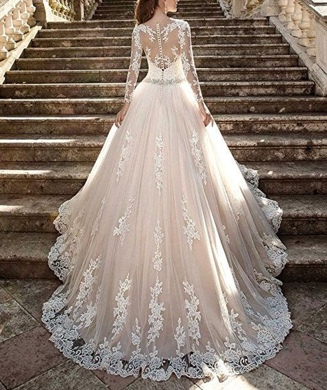 Cardol 2017 Women S Lace Wedding Dresses Bridal Gowns Long Sleeves Ball Gowns At Amaz Wedding Dresses Cinderella Long Wedding Dresses Wedding Dress Long Sleeve