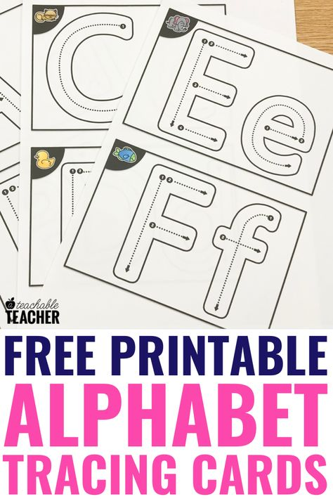 Make this super easy DIY alphabet tracing book with free printables and dollar store photo albums. These cards have uppercase, and lower case templates so the cards cover all of your needs. T/he worksheets are great for preschool and kindergarten classroo Preschool Learning Activities, Free Preschool, Preschool Printables, Preschool Lessons, Free Printables, Free Alphabet Tracing Printables, Preschool Themes, Kindergarten Writing, Alphabet Worksheets For Kindergarten