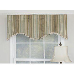 Striped Valances Kitchen Curtains You Ll Love Wayfair