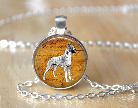 Boxer Dog, Nature Lover, Dog Rescue, Art Pendant Necklace or Key Chain by ShakespearesSisters on Etsy