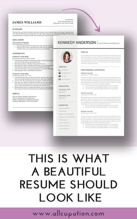 What does a good resume look like? Visit wwwallcupation for - what looks good on a resume
