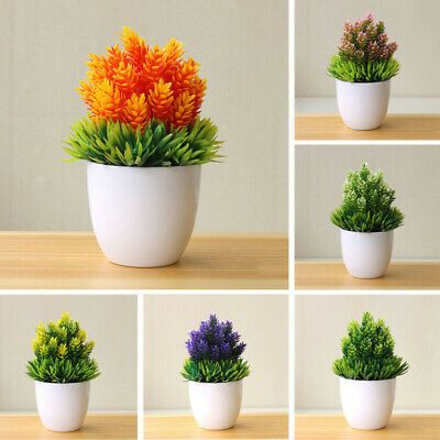 Bonsai Tree In Pot Artificial Plant Decoration For Office Home Simulation Fake Ebay In 2020 Fake Potted Plants Artificial Potted Plants Diy Flower Pots