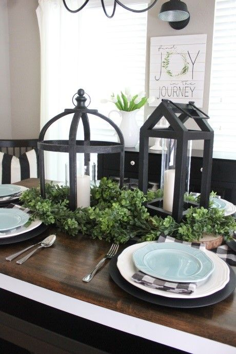 Beautiful Bright Lighting Ideas From Our Kirkland S Insiders Half F Dining Room Table Centerpieces Lantern Dining Room Centerpiece Dining Room Centerpiece