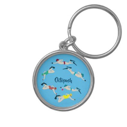 Underwater Hockey Keychain Zazzle Com Keychain Premium Gift Charm Rings