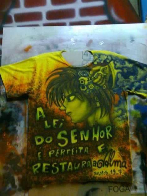 pintura personalizada em camisetas air brush