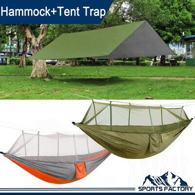 Advertisement Ebay Rain Fly Shelter Tarp Double Person Hammock Mosquito Net Hanging Bed Camping Hammock Tent Hammock Camping Hammocks For Sale