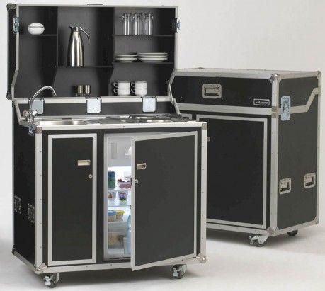 proart kitcase Kofferküche mit Kühlschrank Small