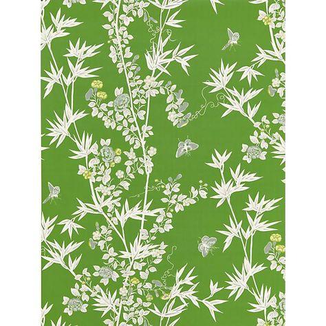 Scalamandre Jardin De Chine Jade Wallpaper Wallpaper Roll