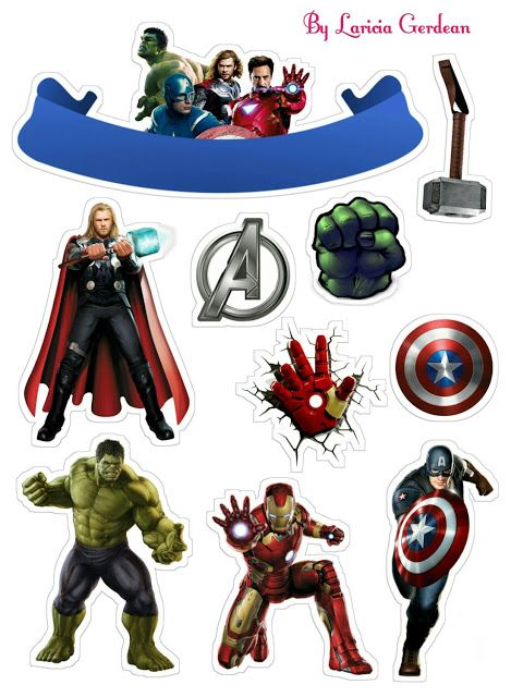 Admirable Avengers Party Free Printable Cake Toppers Com Imagens Funny Birthday Cards Online Elaedamsfinfo