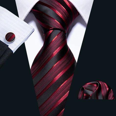 New Wedding Men Tie Red Striped Fashion Designer Ties For Men Business Groom Tie Kravat Camisa Slim, Set Fashion, Fashion Black, Fashion Tips, Fashion Fashion, Tie And Pocket Square, Pocket Squares, Groom Ties, Style Masculin