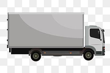 A Grey Big Truck Illustration Truck Van Vehicle Png And Vector With Transparent Background For Free Download Big Trucks Trucks Van