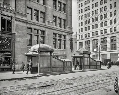 Circa 1905 Subway Entrance And Exit Kiosks East 23rd Street New York City Shorpy Historic Picture Archive New York Subway Nyc Subway New York Pictures