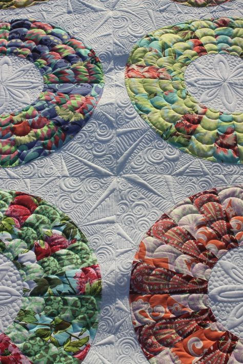 Interesting way to quilt as you go. Much easier to do this kind of quilting