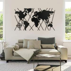 World Map Metal Wall Decor Without Frame In 2020 Metal Wall Decor Wall Decor Hanging Wall Decor
