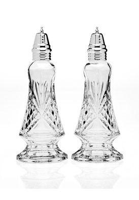 godinger silver dublin crystal salt u0026 pepper set