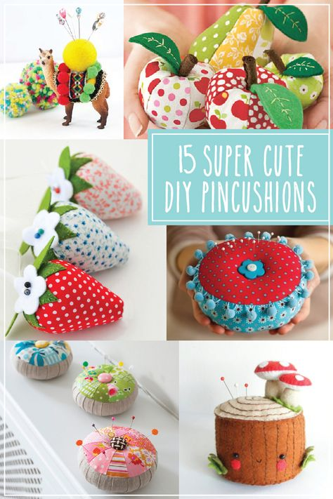 pin cushionsd 15 Super süße DIY Nadelkissen A Web Copywriter Should Know The Rules And How To Break Sewing Patterns Free, Free Sewing, Sewing Kits, Diy And Crafts Sewing, Diy Crafts, Diy Accessoires, Diy Cushion, Cushion Covers, Pillow Covers