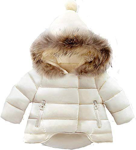 Baby Kids Girl Fur Fleece Coat Jacket Long Sleeve Winter Warm Parka Outerwear