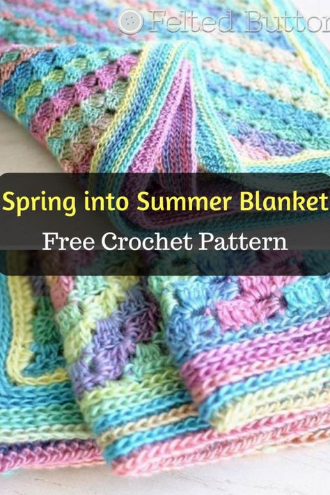 Spring into Summer Baby Blanket - Free Crochet Pattern