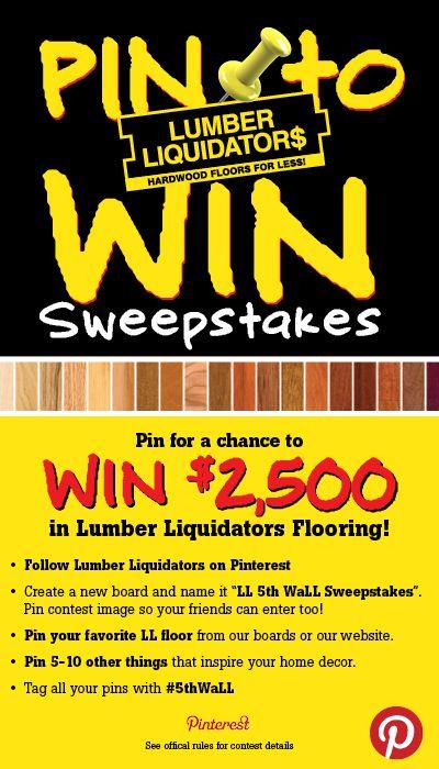 Enter the Lumber Liquidators #LLFixMyFloor Sweepstakes for a ...