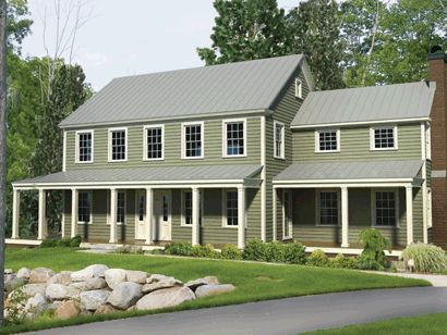 Two Story Modular Farmhouse With A Great Porch