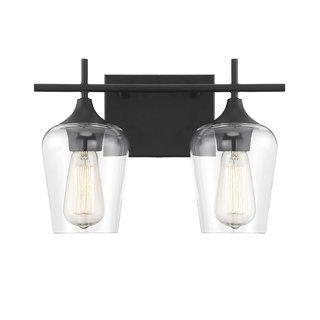 Octave Matte Black Vanity Lightinging In 2020 Black Vanity Light Vanity Lighting Bathroom Vanity Lighting