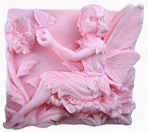 """2.7"""" Fairy Flowers Play with Butterfly 50185 Craft Art Silicone Soap mold Craft Molds DIY"""