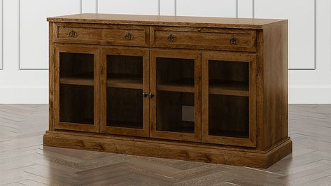 """Cameo Nero Noce 62"""" Modular Media Console with Glass Doors 