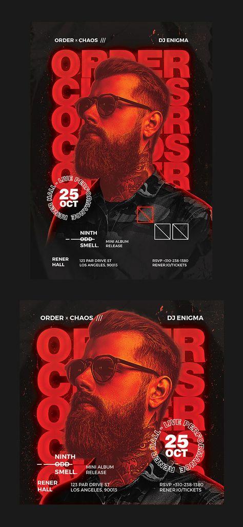 Hip Hop Artist Flyer Design