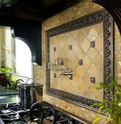 French style kitchen (LOVE the pot filler!)