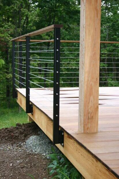 17 Cool Deck Railing Ideas To Fit Your Home Decor In 2020 Diy Deck Building A Deck Decks And Porches
