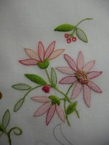 Antique style hanky primer 3 embroidered and petit point hankies shadow work embroidery see more bouquet 1g dt1010fo
