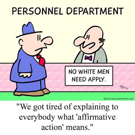 This political cartoon tries to demonstrate that affirmative - affirmative action plan template