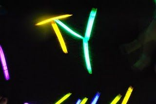 Denita put out glow sticks for the kids to explore.  What a great learning experience!