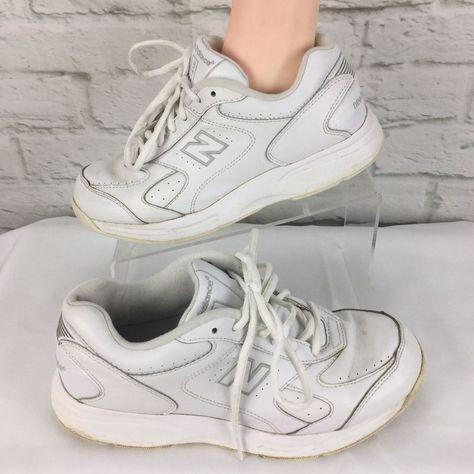 032bfeb5dfec0 New Balance Walking Shoe 575 Mens 7 White 4E Wide lace up  NewBalance   WalkingShoes