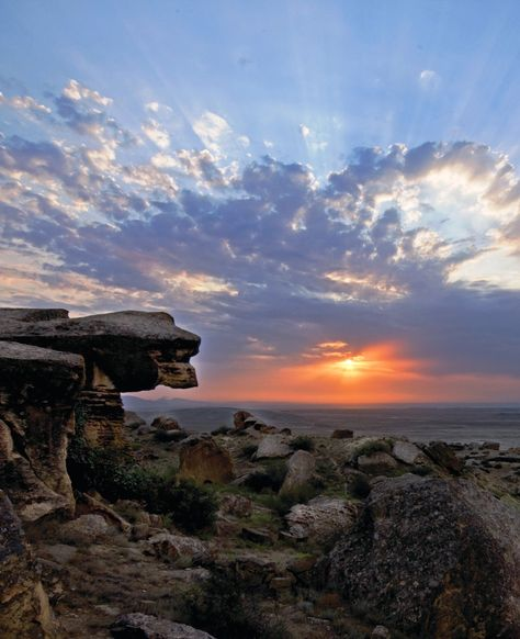 Just a short drive from Baku's centre, the breathtaking Gobustan National Park boasts more than 6,000 rock engravings dating back between 5,000 to 40,000 years.