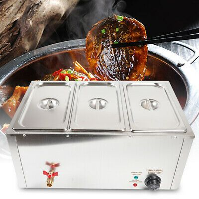 Ad Ebay Food Warmer Steam Table Countertop Steamer Wet Heat 3