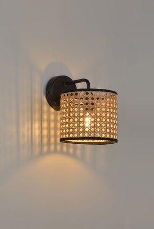 Applique Chic Metal Naturel Corep Cannage 1 Lumiere S Leroy Merlin Wall Lights Japandi Lamp Lamp