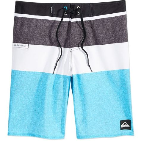 82c2184ccd Quiksilver Men's Everyday Colorblocked 20 Swim Trunks (44 CAD) ❤ liked on  Polyvore featuring